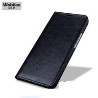Wobiloo Venda Quente Caso de Couro Real do couro para Xiaomi Redmi Hongmi nota 3 Note3 Virar Suporte Tampa Do Telefone Bag para o Arroz Vermelho Note3