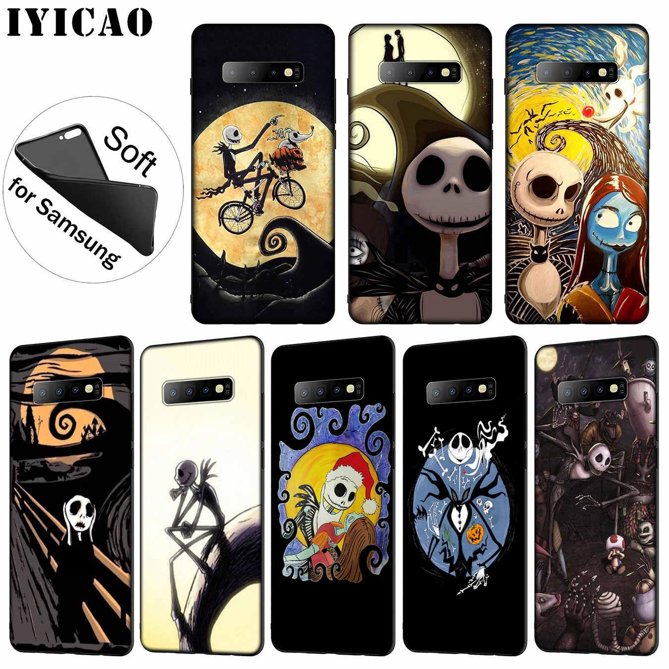 IYICAO кошмар Тим Бертон Хэллоуин Джек Мягкий силиконовый чехол для телефона для samsung Galaxy S10 S9 S8 Plus S6 S7 Edge S10e E чехол