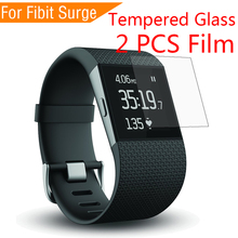 new 2PCS Tempered Glass For Fitbit Surge 2.5D 9H Screen Protector Film Sports SmartWatch Case