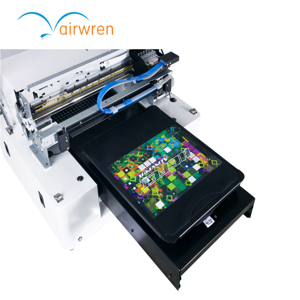 New High Quality Dtg Flatbed Small Size T Shirt Printing Machine Textile Printer With USB Port