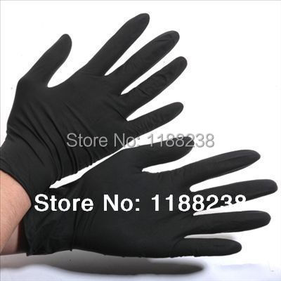 100PCS/lot Tattoo Gloves Artist Trends Latex&Nitrile Black Tattoo Gloves Powder Free Disposable Gloves Black Blue S,M,L,XL