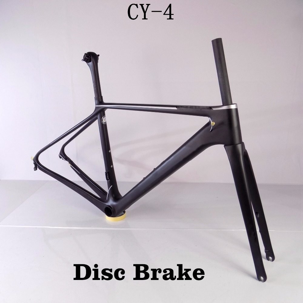 Ultra light road bike frame disc brake route carbon frame road bicycle cheap chinese speed bike 2017 newest 1 1 disc road bike frame 4 sizes for disc carbon frame ultra light frame fork seat post headset bb adapter thru axel