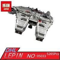 Lepin 05033 Star 5265Pcs Ultimate Wars Collector S Millennium Model Falcon Building Kit Blocks Bricks Toy