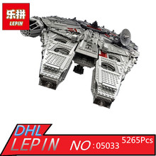 Lepin 05033 Star 5265Pcs Ultimate Wars Collector's Millennium Model Falcon Building Kit Blocks Bricks Toy Gift Compatible 10179