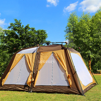 6 8 Person 360*240*180cm Auto Camping large Beach Tent Fishing Hiking Rainproof UV proof Family Travel Big Tent For Outdoor