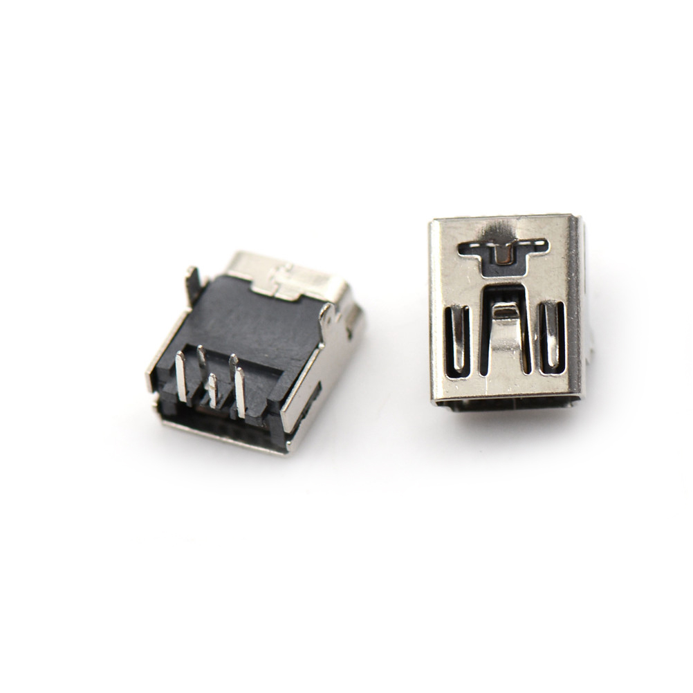 10pcs <font><b>Micro</b></font> <font><b>USB</b></font> Port Sockect Plug Male to Female Mini <font><b>USB</b></font> Jack Front 2Feet 5 PIN 90 Degrees <font><b>Micro</b></font> <font><b>USB</b></font> <font><b>Connector</b></font> For Phone image
