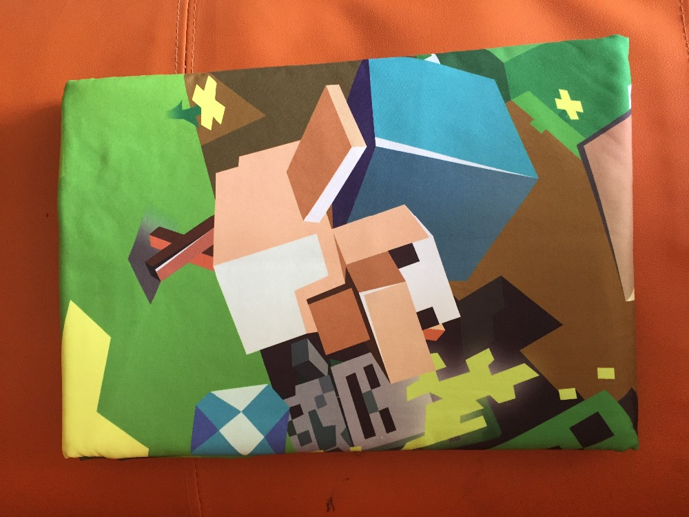 In stock sale 4 styles Eat Sleep Cartoon MineCraft bedding Duvet Cover Pillow Cover Bedding Mining