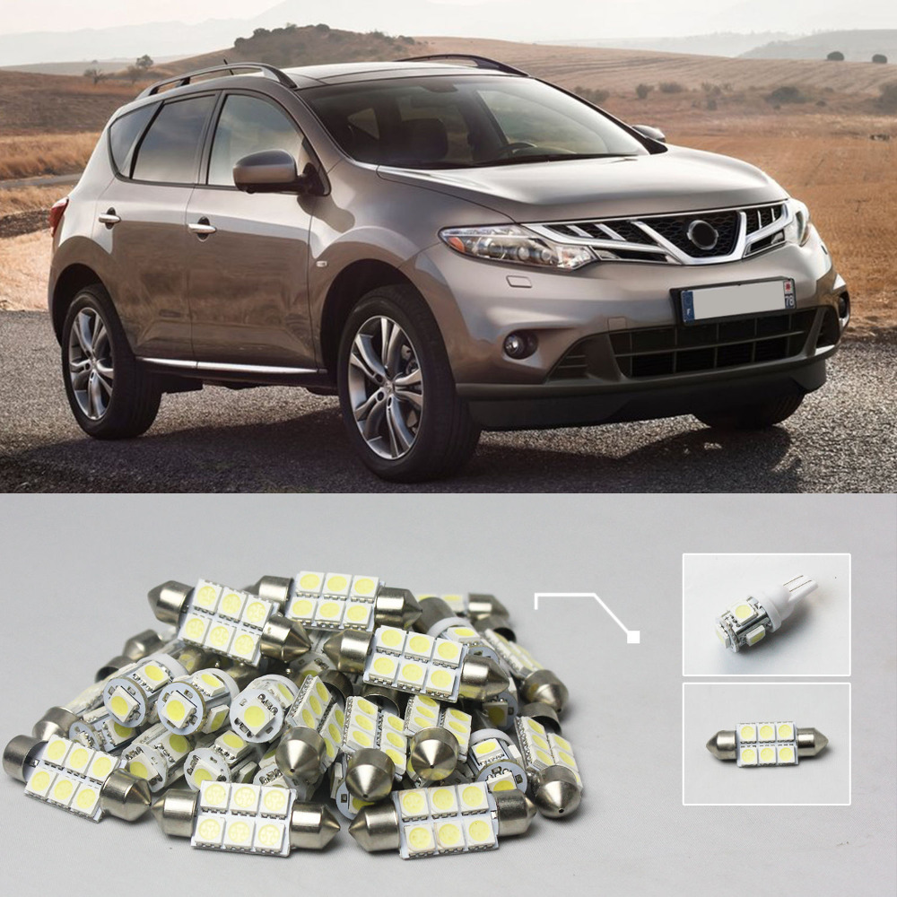 Popular nissan murano kit buy cheap nissan murano kit lots from 13x white led lights interior package kit 20 for nissan murano vanachro Image collections