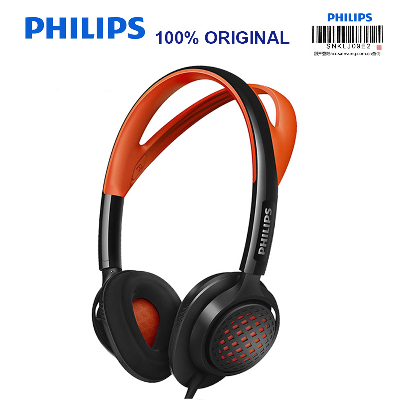 Original Philips SHQ5200 Sport Headphones with Noise Reduction Function Bass Headset for Galaxy S9 S9Plus Official Certification original sport philips shb5850 wireless headphones with bluetooth4 1 speaker wire controller for galaxy s9 s9 plus xiaomi huawei