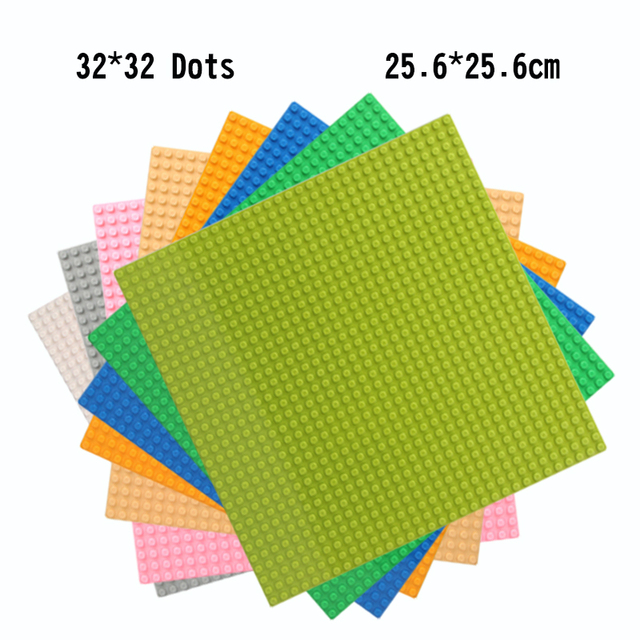 32*32 Dots Base Plate Small Bricks Military Baseplate Board For Kids DIY Toys Compatible Legoings Figures Street Building Bloks
