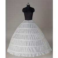 Lace Edge 6 Hoop Petticoat Underskirt For Ball Gown Wedding Dress Tulle Jupon Mariage Underwear Crinoline Wedding Accessories