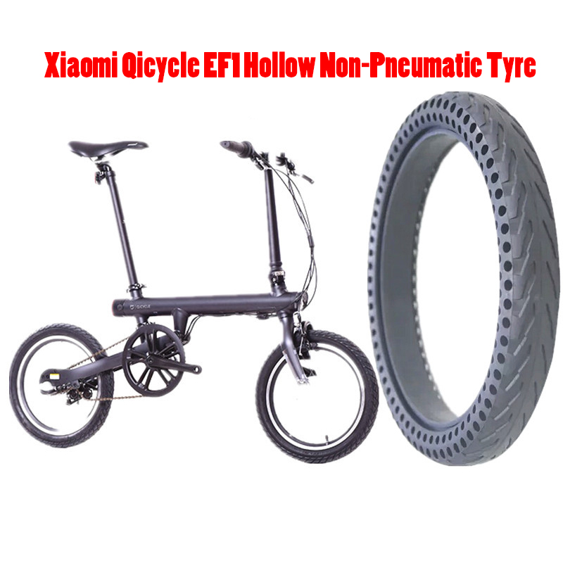 Solid Tire For Xiaomi Mijia Qicycle EF1 Bike Electric Bicycle Hollow Non-Pneumatic Tyre Shock Absorber Anti-slip Durable Tyres