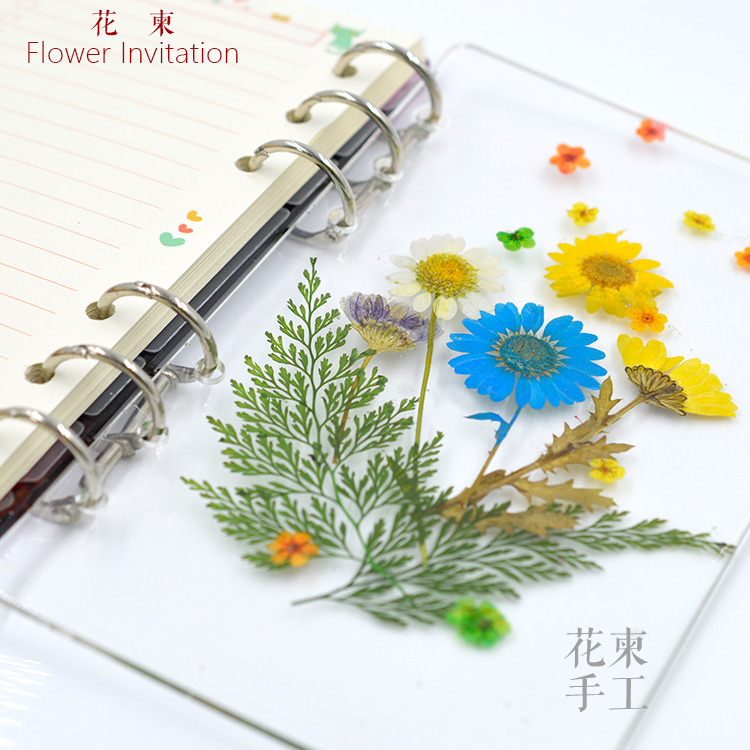 Flower Invitation Notepad Shell Mold Notebook Base DIY Accessories Epoxy Resin Silicone Notebook Mold A6