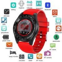 2019 Новые смарт часы мужские женские наручные часы Поддержка с камерой Bluetooth SIM TF карта для телефона Android relojes Para Hombre часы