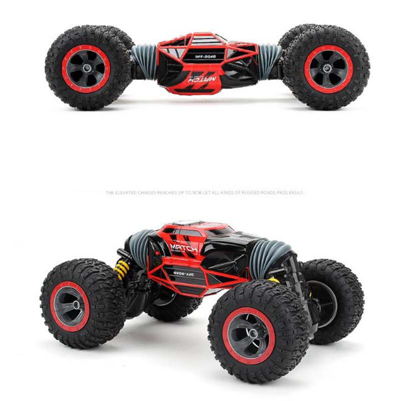 все цены на 1:16 Scale Double-sided 2.4GHz RC Car One Key Transform All-terrain Off-Road Vehicle Varanid Climbing Truck Remote Control Toys онлайн