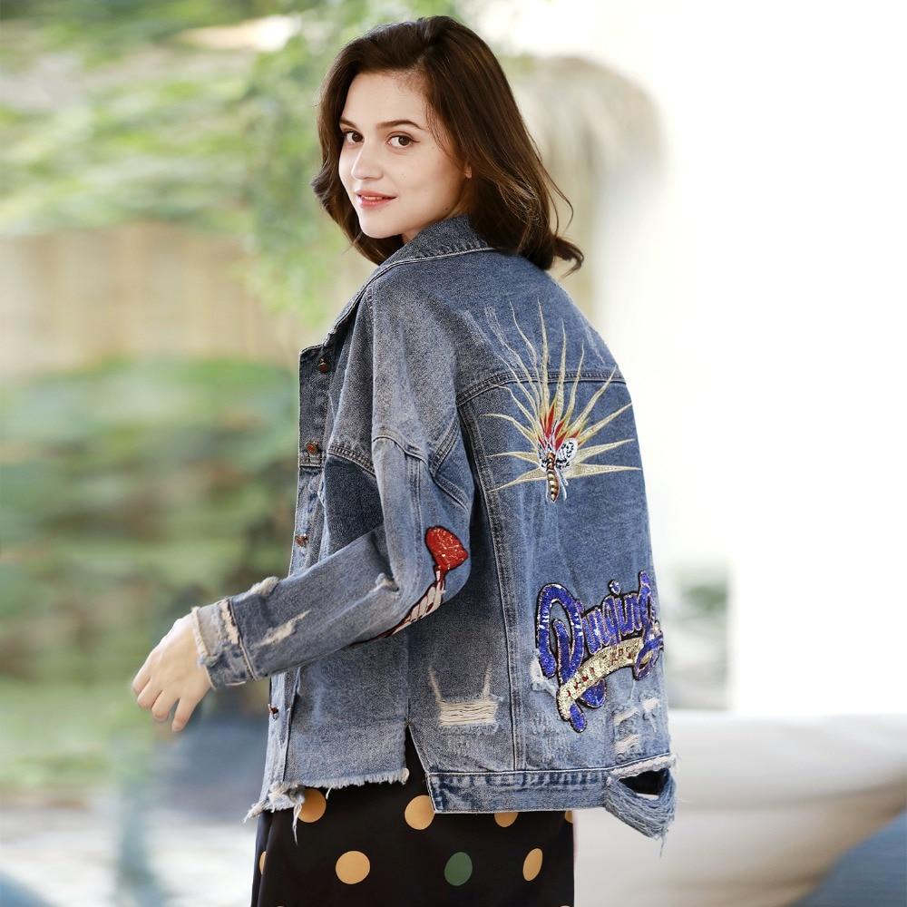 Broderie Jean Shows Nouvelle Manches Manteaux Streetwear Effiloché x8CqqwE1 0dd4a933a764