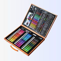 150pcs Children Drawing Set Art School Supplies Painting Set Tools Palette Crayons Markers Brush Pen Painting Tools Kids Gifts