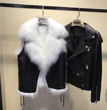 Estilo europeo mujeres Otoño Invierno piel Real chaquetas de cuero Chic Biker chaquetas abrigo D849