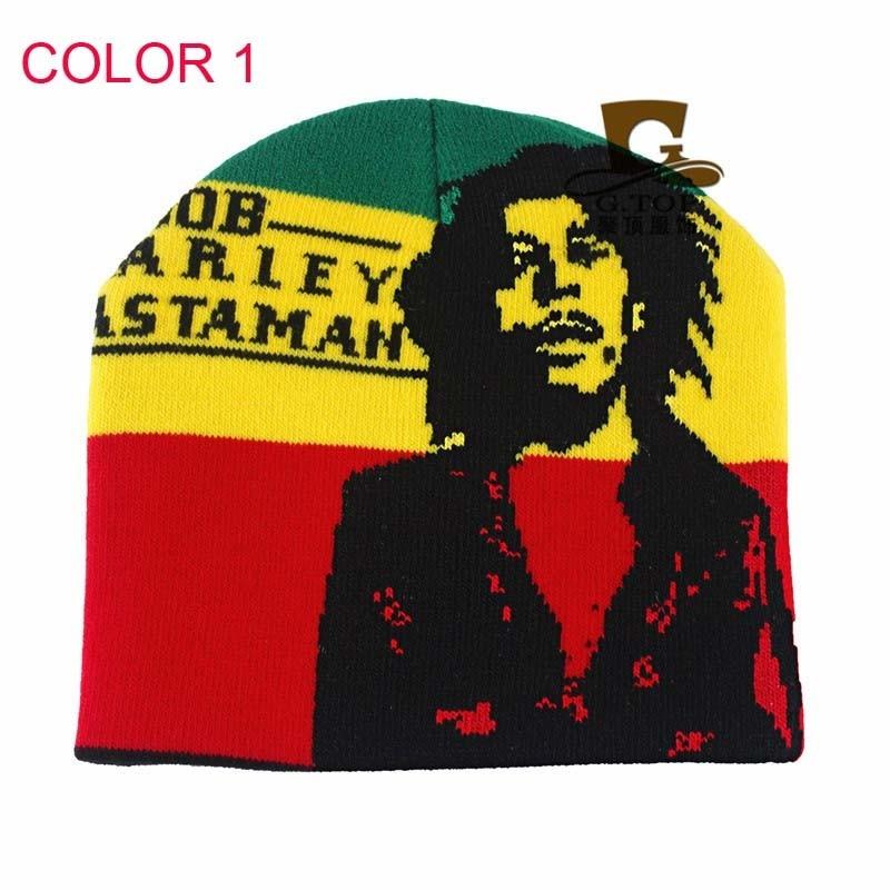 New Bob Marley Rasta knit hats Jamaica Knitted Skull Beanie Hat проводные наушники marley smile jamaica rasta em je041 ra