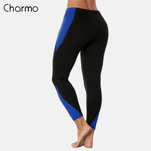 Charmo Women Yoga Pants Slim High Waist Sports Gym Fitness Elastic Trousers Running Patchwork Sport Wear Legging