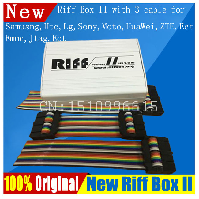 2018 Riff Box Best Jtag For HTC,SAMSUNG,Huawei Unlock&Flash&Repair With 3  pcs flat cables All 5+