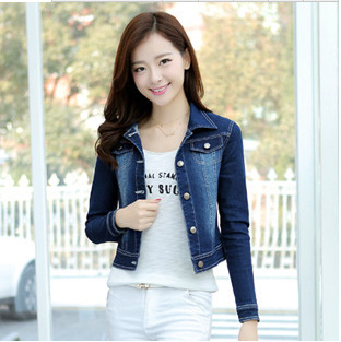 Popular Short Sleeves Denim Blazer-Buy Cheap Short Sleeves Denim ...