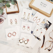 Korean Handmade Pink Irregular Geometric Anti-allergy 2019 Woman Dangle Drop Earrings Fashion Jewelry Holiday-JQD5 korean handmade pink irregular geometric anti allergy 2019 woman dangle drop earrings fashion jewelry holiday jqd5