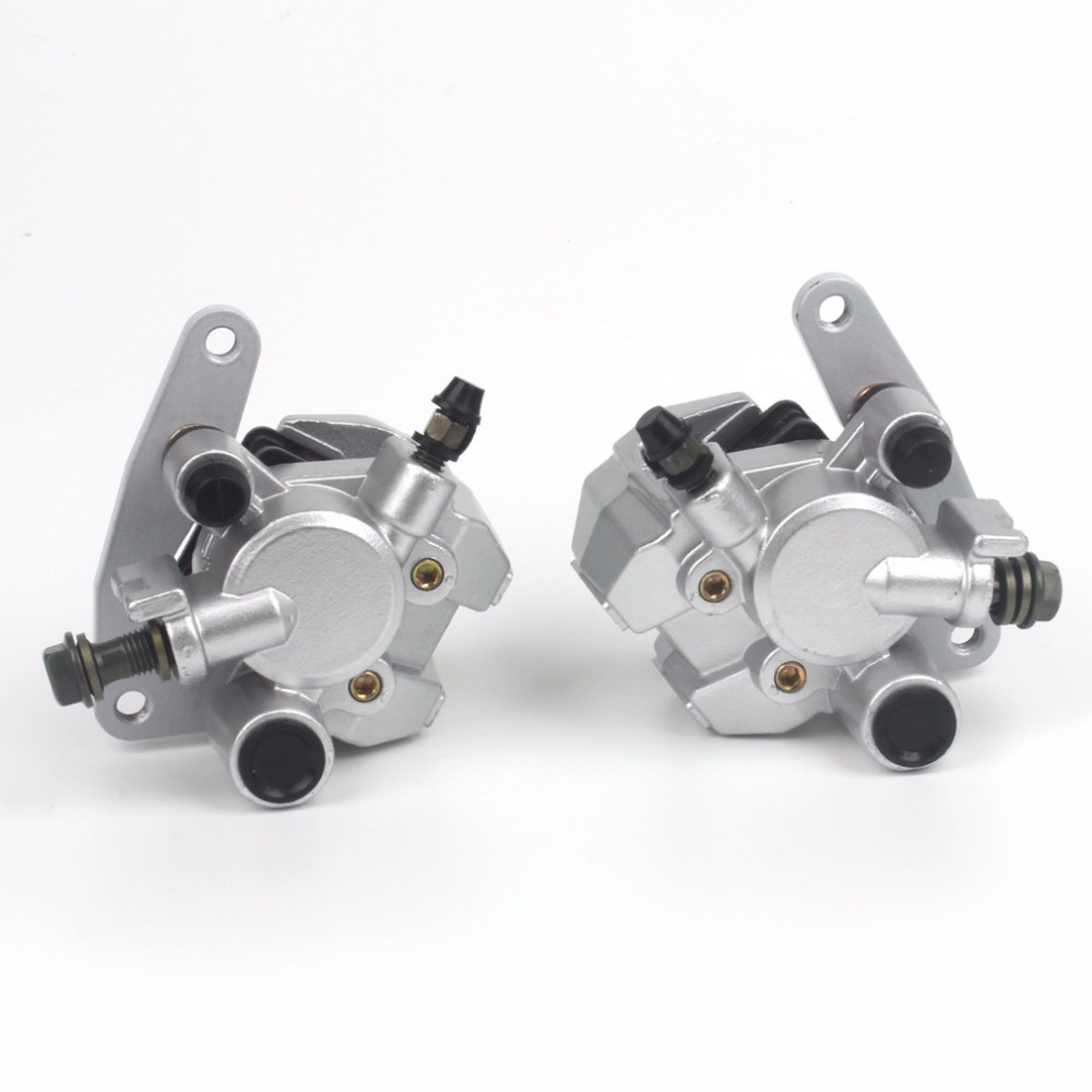 Front Brake Calipers Set for Yamaha GRIZZLY 660 2002-2008 YFM660 with Pads keoghs real adelin 260mm floating brake disc high quality for yamaha scooter cygnus modify