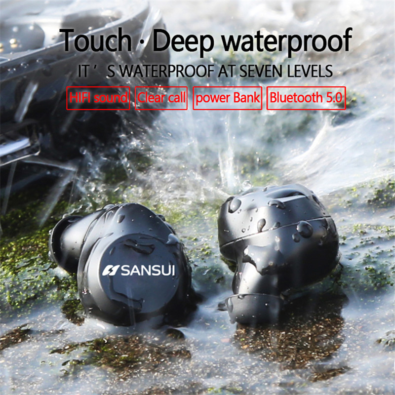 все цены на TWS Smart Touch Bluetooth 5.0 HI-FI Noise Reduction IPX7 Waterproof BLuetooth Earphone 3D Stereo Sound In Ear with Power Bank онлайн