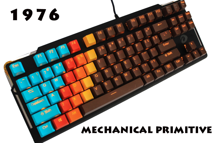 MP 1976 Chocolate Color Keycap 108 Keys PBT Double Shot Keycaps OEM Profile For Cherry MX