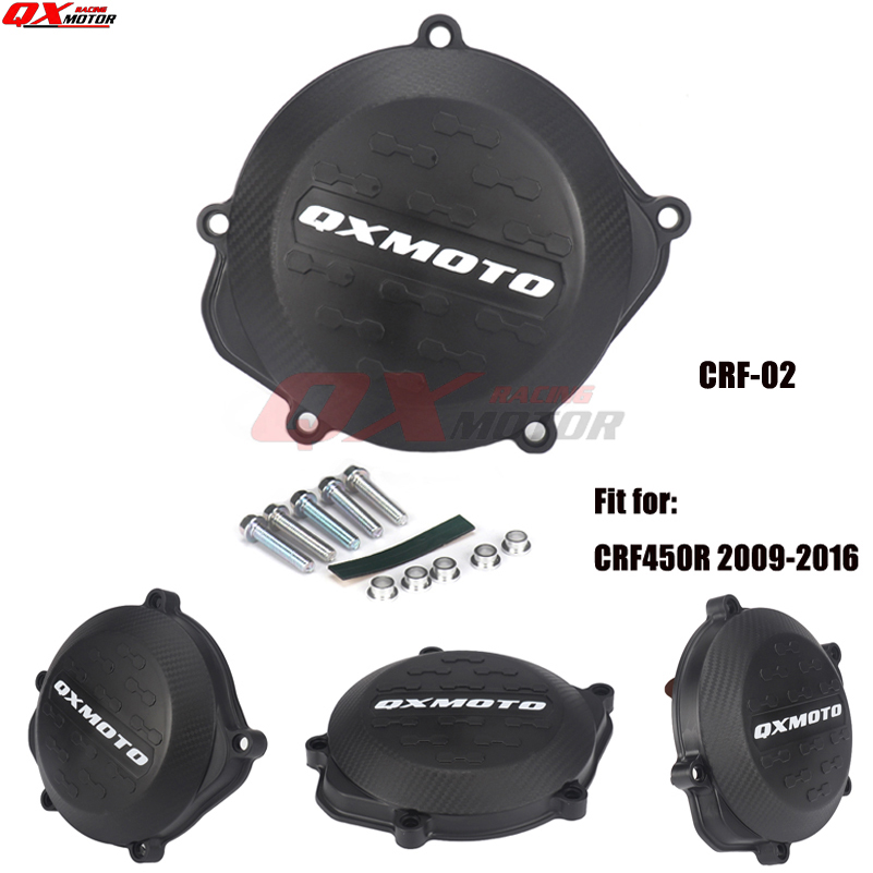 Motorcycle Clutch Cover Protector Cover Fit For crf 450r <font><b>CRF450R</b></font> 2009-<font><b>2016</b></font> 2010 2011 2012 2013 2014 2015 <font><b>2016</b></font> image