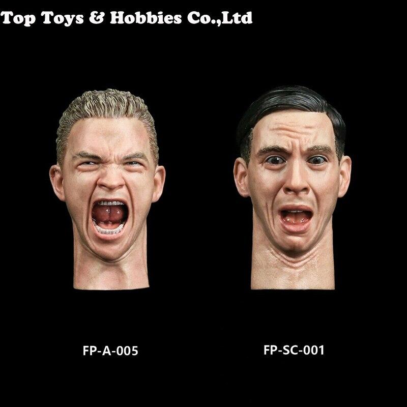 Facepool figure 1/6 tête de soldat mâle sculpture avec colère surprise Expression frustrée ajustement 12 ''corps homme figurine jouets