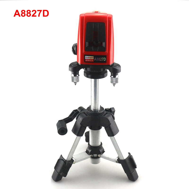 ACUANGLE A8827D 3 Lines 3 points Red Line Laser Level 360 Self-leveling Cross with AT280 Tripod Diagnostic-tool 16 colors x vented outdoor playing quad line stunt kite 4 lines beach flying sport kite with 25m line 2pcs handles