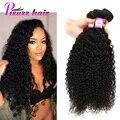 Малайзийский Странный Вьющиеся Волосы Девственницы 3 Связки Kinky Вьющиеся Weave Человеческих Волос Норки Малайзийские Виргинские Волосы 8А Малайзии Вьющиеся Волосы