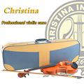 High Quality Italy Christina violin case,hygrometer waterproof case for wood violino 3/4,4/4,leather fiddle case accessories
