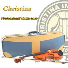 De alta Calidad de Italia Christina violín caso, violino higrómetro caja estanca para madera 3/4, 4/4, violín caso de cuero accesorios