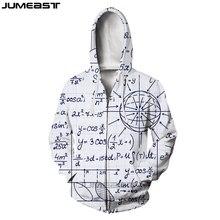 Jumeast Brand Funny Physics Math Formula Men/Women 3D Printed Zipper Hoodie Geometric Pattern Long Sleeve Jacket Sport Pullover