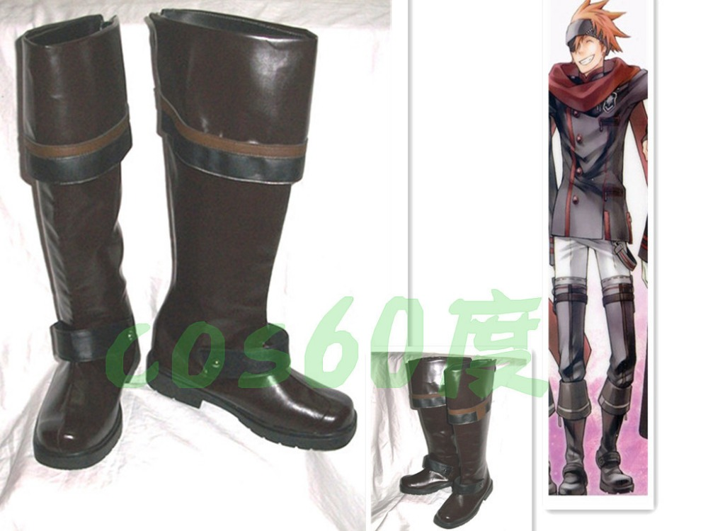 D Gray man Lavi Bookman Jr Cosplay Shoes Boots S008