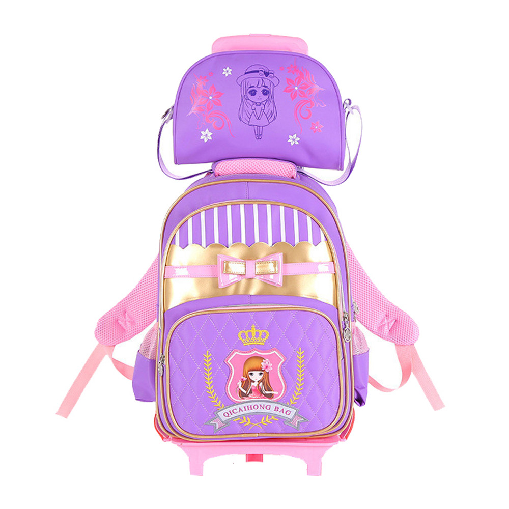 Children Trolley Backpack School Bags For Grils Boys Wheeled Bag Students Removable Nylon Backpacks for teenagers Mochila 3d car styling children school bags for teenagers boys kids cartoon backpack book bag large capacity mochila escolar