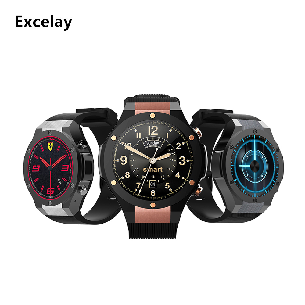 Excelay H2 Smart Watch MTK6582 IP68 Waterproof 1.39inch 400*400 GPS Wifi 3G Heart Rate Monitor1G+16G Bluetooth 4.0 Smart reminde smart baby watch q60s детские часы с gps голубые
