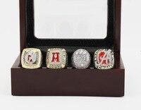 Полный набор (4 шт.) NCAA 1992 2009 2011 и 2012 Alabama Crimson Tide Национальный чемпионских колец высокого качества с деревянной коробке