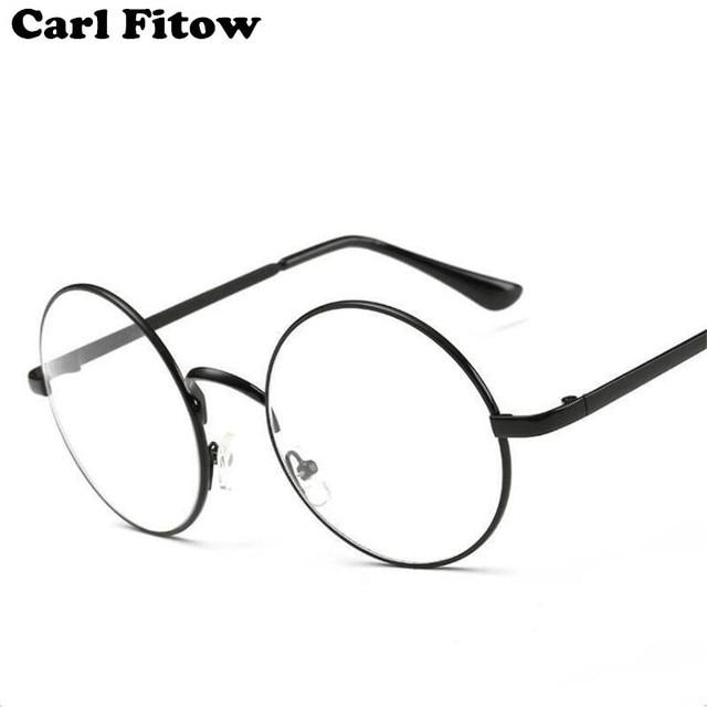 ae97fa806 جولة إطارات نظارات طبية النساء الرجال بصري إطار شفاف نظارات لهاري بوتر  إطارات النظارات مع واضح