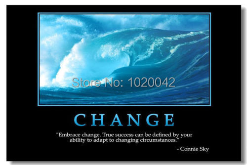 Online Shop Free Shipping CHANGE Art Photo Poster 12x18 inch