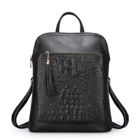 LUODUN Genuine Leather shoulder bag female bag the first layer of leather ladies bag dual wild simple school wind small backpack
