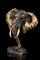 Brass Decoration Pure Brass Good Value Lucky China Folk Copper Abstract Sculpture Elephant Head Art Decoration