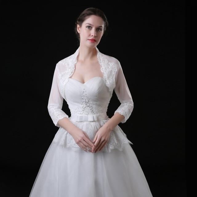 Elegante Novia de La Boda Chaqueta de Encaje Blanco Nupcial de ...