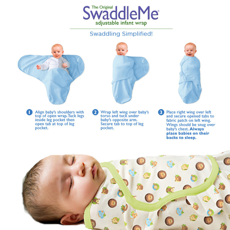 Miracle Baby Newborn Swaddle Blanket Adjustable Wrap Receiving