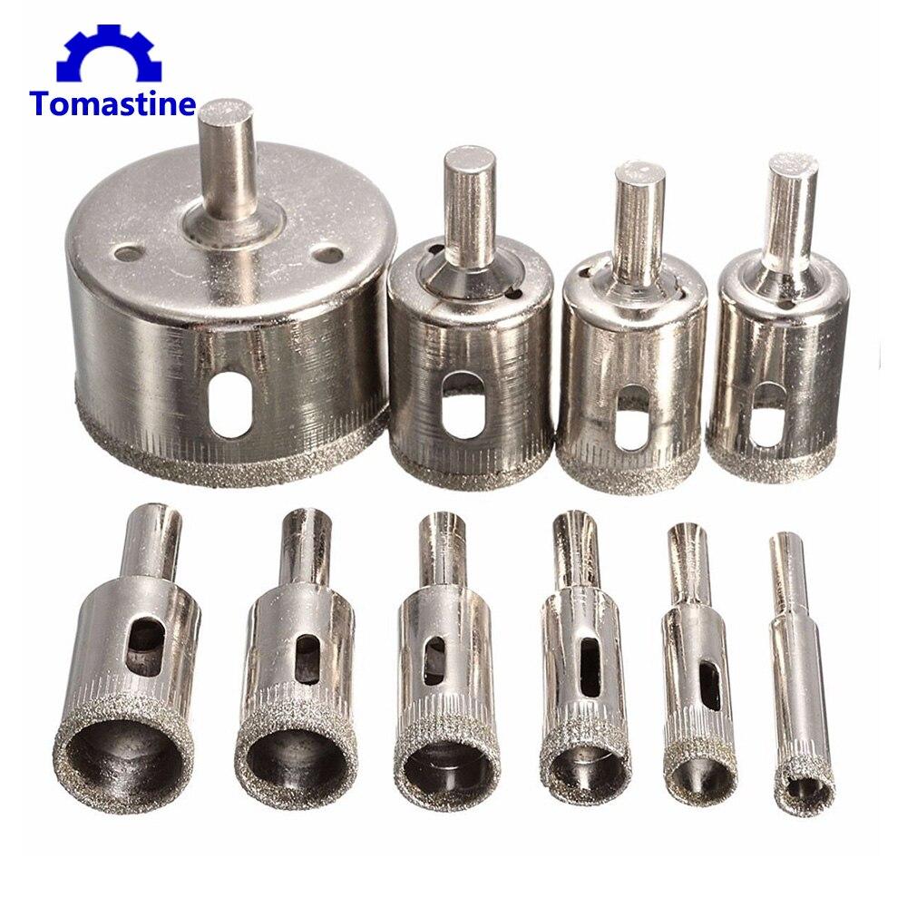 15pcs Diamond tool drill bit hole saw set for glass ceramic marble 6mm-50mm J5X6