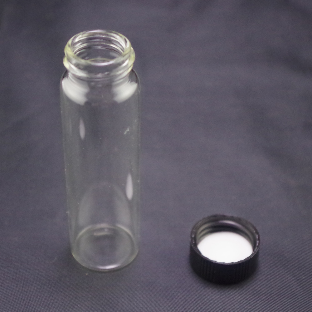 40ml Sample Bottle CLEAR Glass Screw Top Each Bid For 1pc
