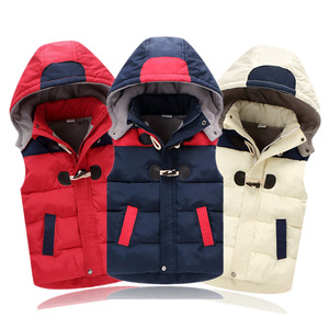 Image 5 - Child Waistcoat Children Outerwear Winter Coats Kids Clothes Warm Hooded Cotton Baby Boys Girls Vest For Age 2 12 Years Old